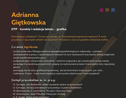 "Check out new work on my @Behance portfolio: ""Projekt CV"" http://on.be.net/1V0tMhR"