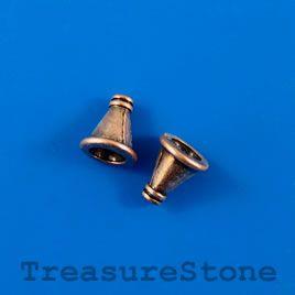 #Cone, copper-colored, 10x12mm, nickel free. #TreasureStone #Beads Edmonton.