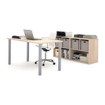 Bestar 150882 i3 by Bestar 4 Metal Leg Desk/Open Storage Executive Kit