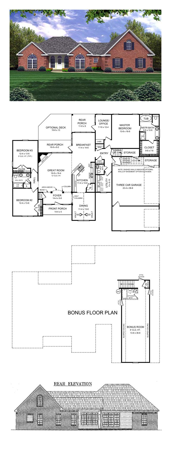 66 best ranch style home plans images on pinterest ranch house european french country ranch traditional house plan 59074