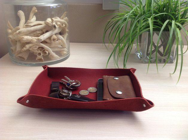 Schlüsseletuis - Leder Schale, Schlüsselschale, Schmuckschale - ein Designerstück von Caballito bei DaWanda