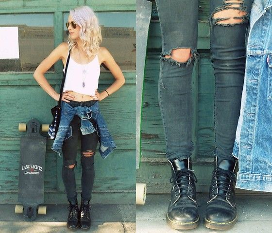 Refashion, distressed jeans inspiration