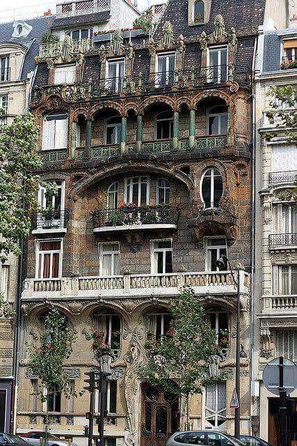 A pretty building of balconies in Paris!
