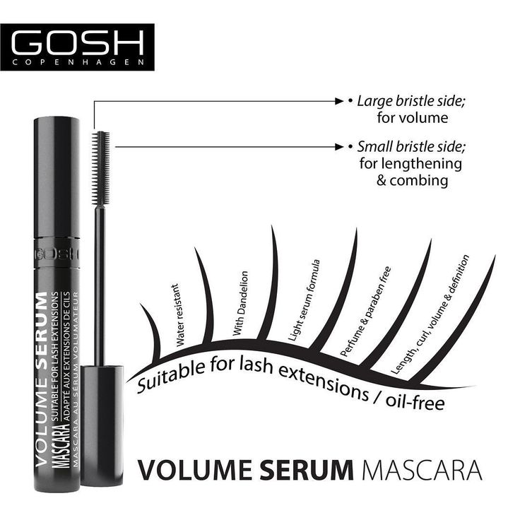 Check out the cool facts about our newest mascara. Did you know that it is suitable for all lashes…including lash extentions - Isn't that cool? #GOSHCOPENHAGEN #BEAUTIFULYOU #URBANNATURE #MAKEYOURIMPRESSION #SS17 #MASCARA #NEW #NEWIN