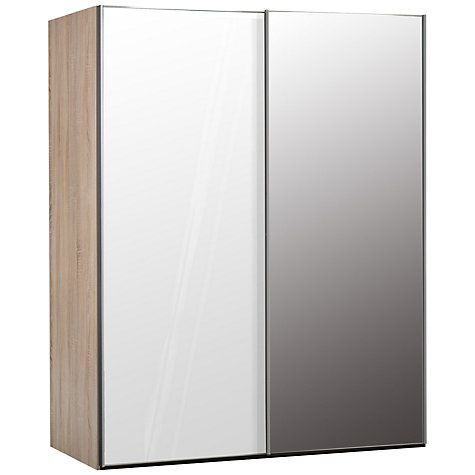 Buy John Lewis Elstra 150cm Wardrobe with Glass and Mirrored Sliding Doors Online at johnlewis.com