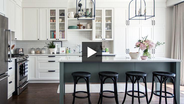 Designer Vanessa Francis transforms a drab kitchen into a bright space.
