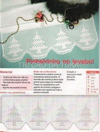 Christmas tree edging with diagram