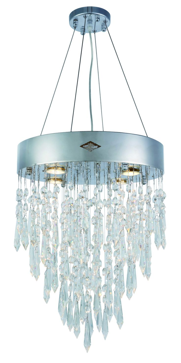 The 25 best focal point lighting ideas on pinterest focal a crown of chrome colored steel dangles brilliant crystals that will serenade you with elegant light a stylish focal point for any interior arubaitofo Images
