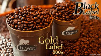 Kopi Luwak - Gold Label or Black Label pack of 200g and get 20% flat discount as per our EASTER DAY offer!