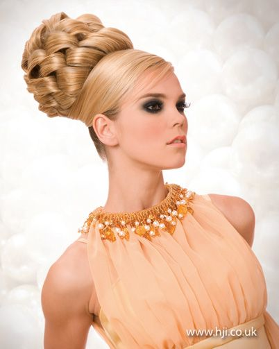 Woven braided updo    Hairstyle by: Patrick Cameron  Hairstyle picture by: Alistair Hughes