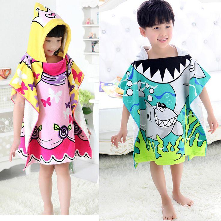 Hot Sale  Baby Beach Gown Child Bathrobe Beach Towels Baby Cloak Cape Baby Bath Towel Child Bathrobes #Affiliate