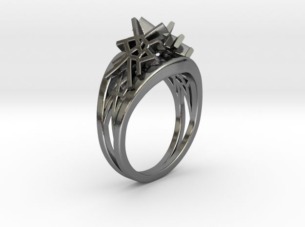 Voronoi Twin Ring (001) by Fluid_Designer