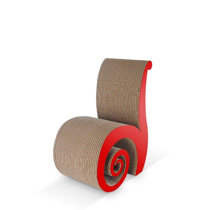 CHIOCCIOLA - Carton Factory Designer: Skemp Design Misure: 40 X 64 X 87  Sedia in cartone ispirata alla forma di una chiocciola.   #cartonfactory #cardboard #ecodesign #chair #design