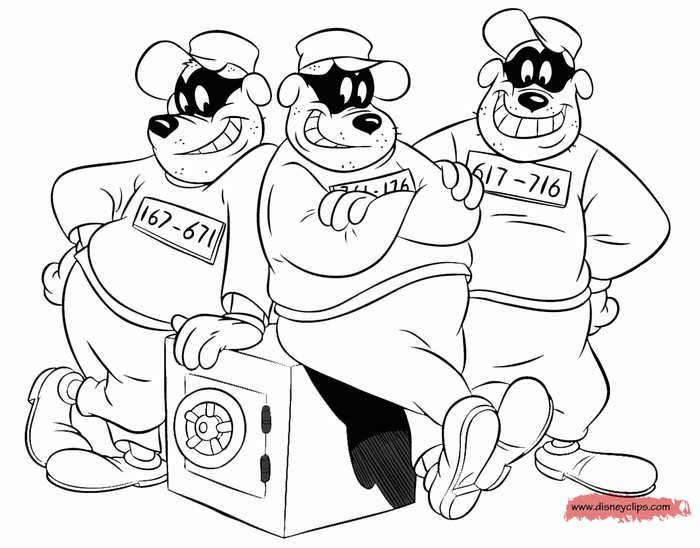 Beagle Boys From Ducktales Coloring Page Coloring Sheets For