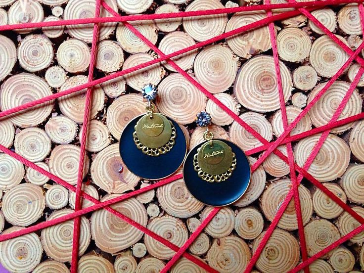 Planet enamels earrings, blue color. Natanè.  #earrings #orecchini #colors #orecchini #orecchino #woman #fashion #style #outfit #swarovski #jewel #bijoux #girl #natanè  #blu #blue