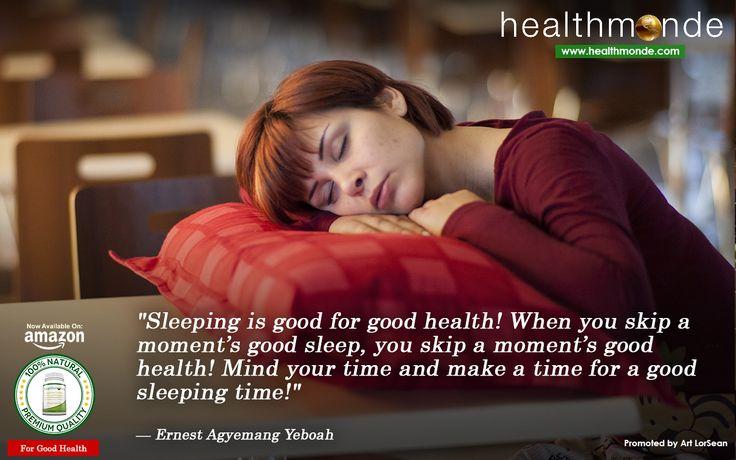 "https://www.healthmonde.com/  ""Sleeping is good for good health! When you skip a moment™s good sleep, you skip a moment™s good     AMAZON : https://www.healthmonde.com/"