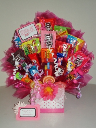 Sweet 16 Candy Bouquet - Mommmm, can you do one for me that's entirely Reese's candyyyyy? ;)