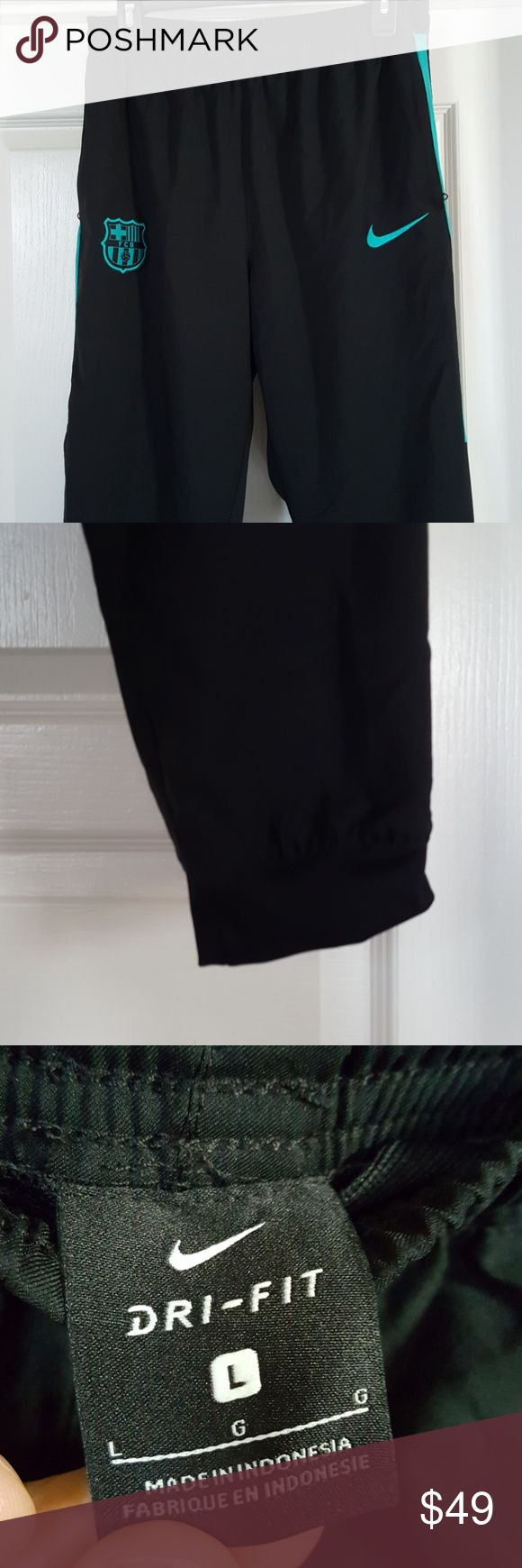 Nike dri fit FC Barcelona training pants large EUC no snags or holes or stains  Soccer training pants, like joggers. Nike Pants Sweatpants & Joggers