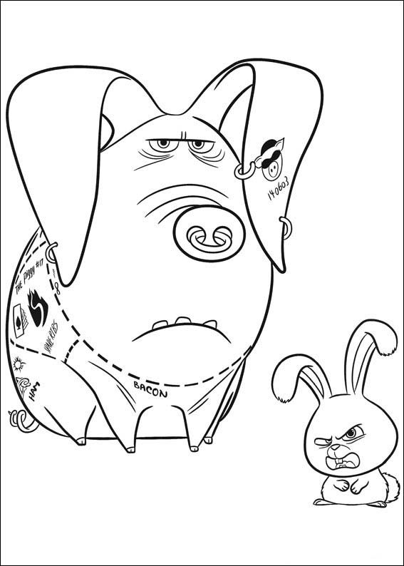 The secret life of pets coloring pages 22