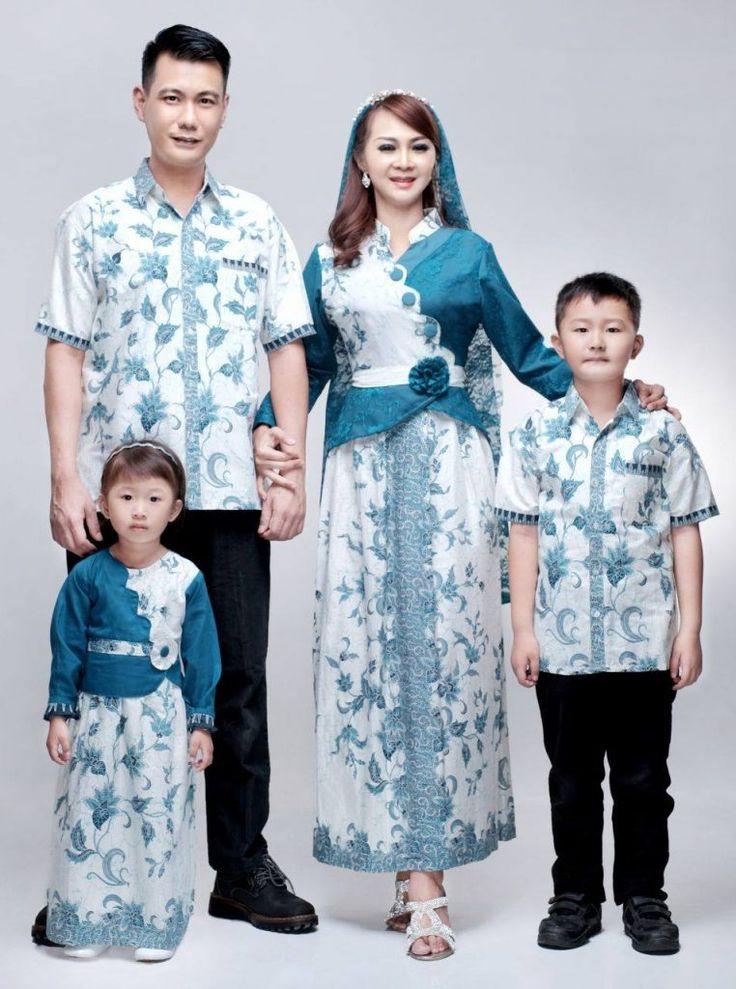 Baju Batik Gamis Sarimbit Keluarga Zoya