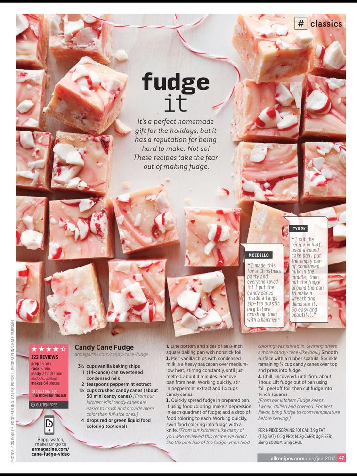 """Fudge It"" from Allrecipes, Dec 2016 / Jan 2017. Read it on the Texture app-unlimited access to 200+ top magazines."