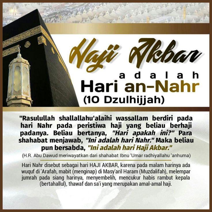 Follow @NasihatSahabatCom http://nasihatsahabat.com #nasihatsahabat #mutiarasunnah #motivasiIslami #petuahulama #hadist #hadits #nasihatulama #fatwaulama #akhlak #akhlaq #sunnah  #aqidah #akidah #salafiyah #Muslimah #adabIslami #DakwahSalaf # #ManhajSalaf #Alhaq #Kajiansalaf  #dakwahsunnah #Islam #ahlussunnah  #sunnah #tauhid #dakwahtauhid #alquran #kajiansunnah #salafy #fikihhaji #HajiAkbar #HariAnNahr #10Dzulhijjah #IdulAdha #WuqufdiArafah #kenapadisebuthajiakbar