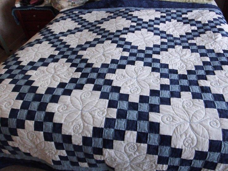 What a beautiful quilt! Just the right amount of quilting, IMO.