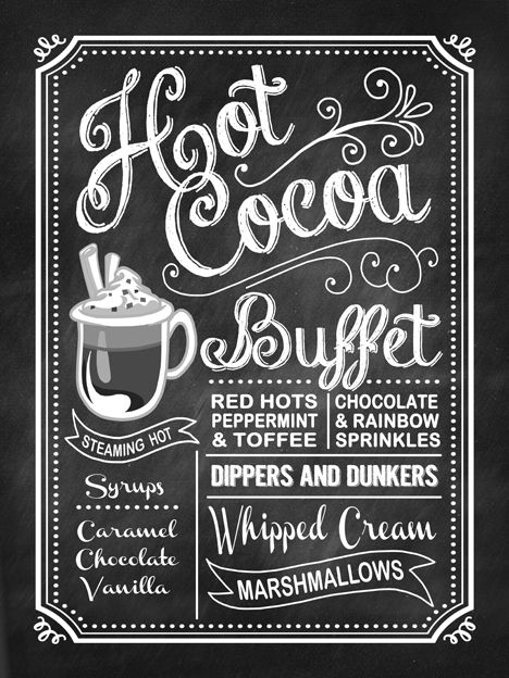 Paper Perfection: Hot Chocolate Chalkboard Sign