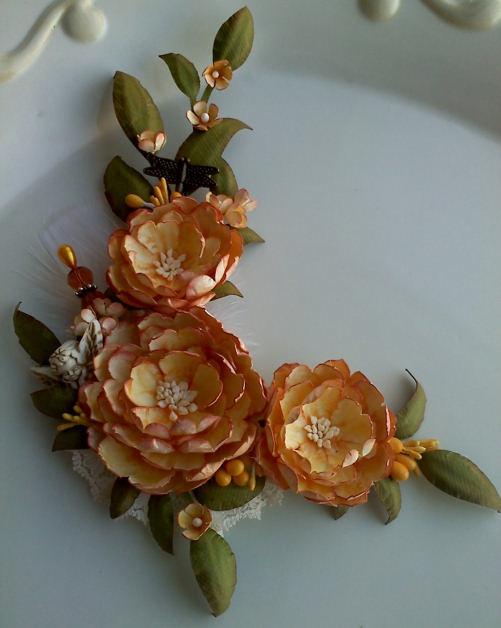 Anna Fearer: New Handmade Paper Flower Spray