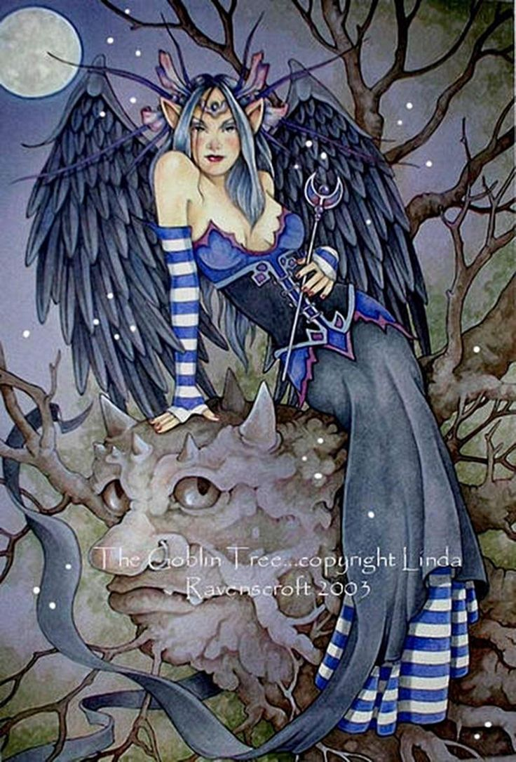 Enchanted fairy tree house here is a little faerie tree house linda - The Goblin Tree By Linda Ravenscroft Featured Artist On The Fantasy Gallery