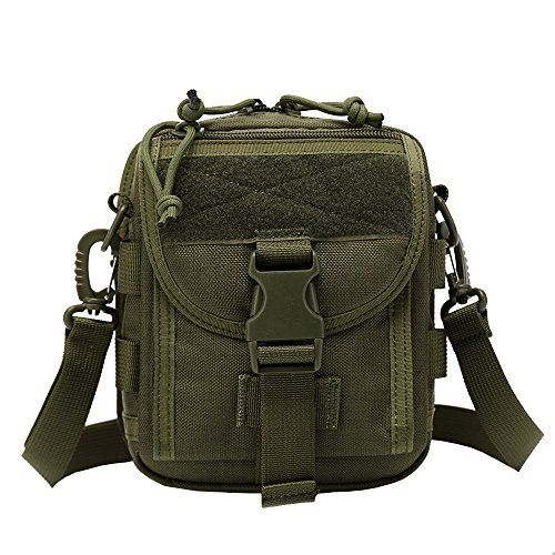INDEPMAN Military Tactical Waist Pack Molle Nylon Waterproof Fanny Pack Sling Thigh Holster Belt Bag EDC Phone Case for Camping Hiking Army green *** Want to know more, click on the image.