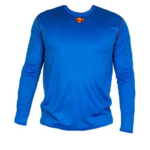 Superman Logo Mens Long Sleeve Poly Shirt (XL) @ niftywarehouse.com #NiftyWarehouse #Geek #Fun #Entertainment #Products