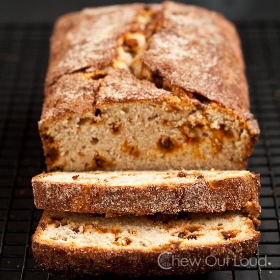 Snickerdoodle Bread - Rich, cinnamony goodness  inside, with a crispy crackly topping.  Quick bread doesn't get better than this.