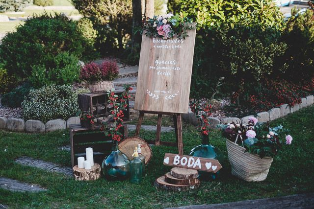 Bienvenida boda boho