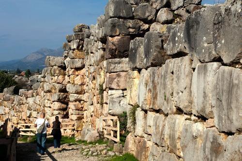 Mycenae -   Details: www.culture.gr; Admission 8€, includes Treasury of Atreus. Apr-Oct daily 8:30am-7pm, Nov-Mar daily 8:30am-3pm.    Photo Caption: Building blocks at Tiryns, Peloponnese.    Photo by Yannis Lefakis