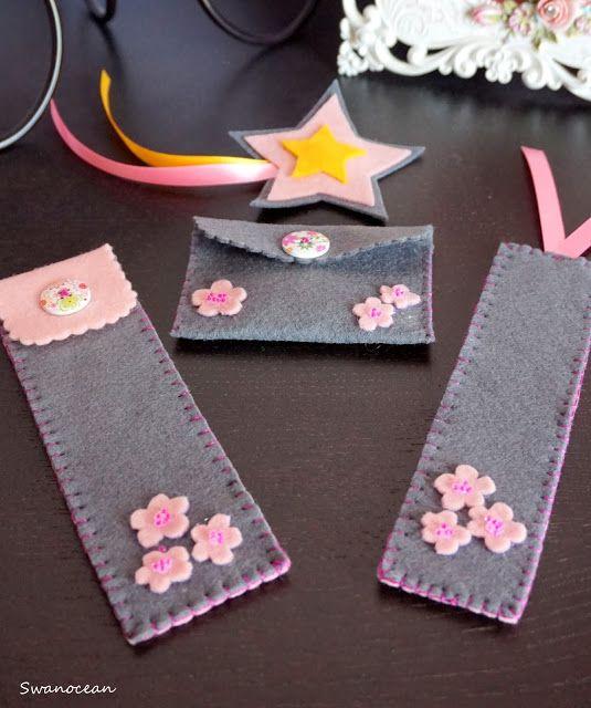 Swanocean: Felt accessories for a girl-Τσόχινα αξεσουάρ για ένα κορίτσι