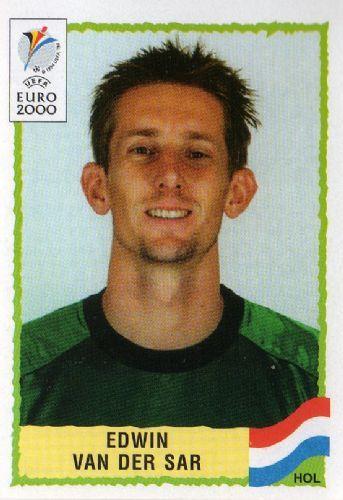 Edwin van der Sar of Holland. Euro 2000 card.