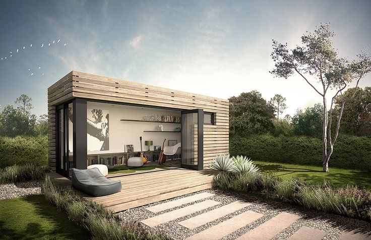 Small backyard studio made from shipping containers by ...