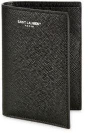 Saint Laurent Tall Pebble Textured Calf Leather Wallet