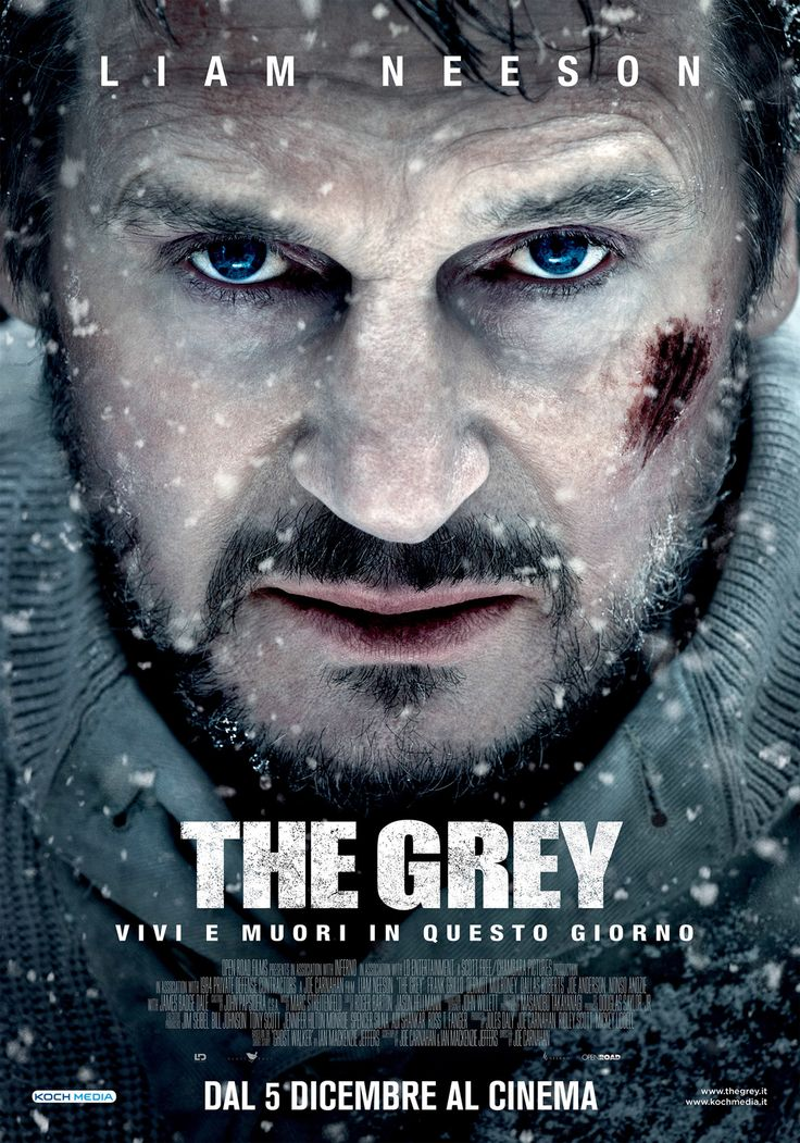 THE GREY - Liam Neeson - poster italiano