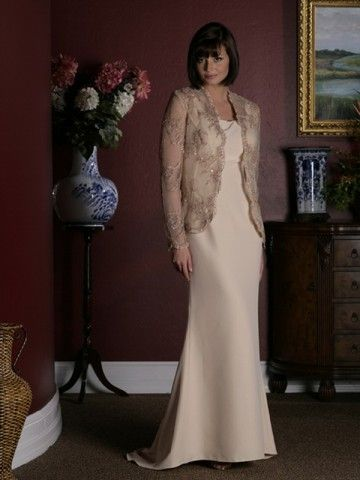 (FITS0251908 )Sheath / Column Square Lace Long Sleeves Floor-length Chiffon Mother of the Bride Dresses