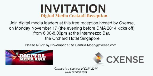Cxense Experience Singapore, Nov. 17 2014