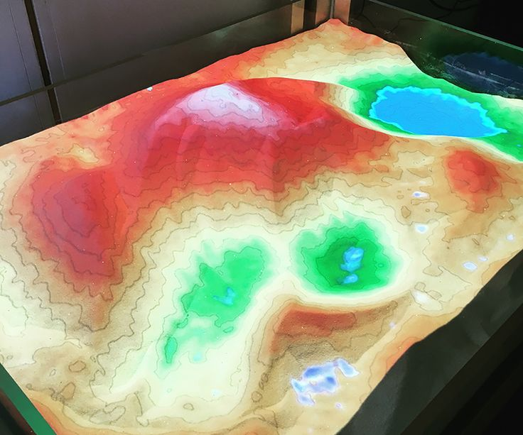 New Augmented Reality Sandbox helps students better understand topography and water flow   The John H. Daniels Faculty of Architecture, Landscape, and Design