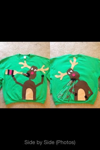 Homemade Tacky Christmas Sweaters | Nathan's homemade Ugly Christmas Sweater