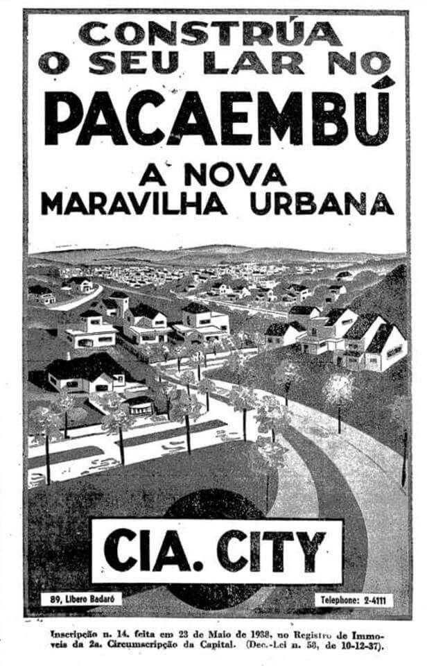 1938 - Cia City no Pacaembu.