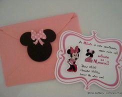 Convite Minnie Rosa                                                                                                                                                                                 Mais