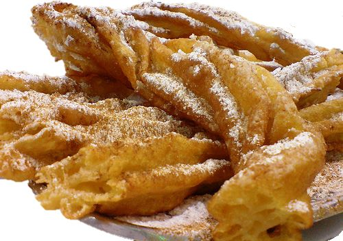 Farturas: Portuguese 'Farturas' are larger and softer when compared to Spanish churros. Made of flour and sugar. Some can be filled with flavoured jelly (eg.: strawberry, chocolate).