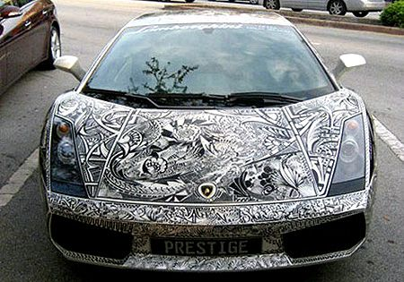 Hand-Drawn Lamborghini Paint Job That Really Gets Attention - TechEBlog