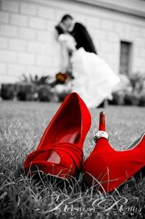 Since I've known I want to wear red shoes on my wedding day since before I even met Eric, something like this would be fantastic.