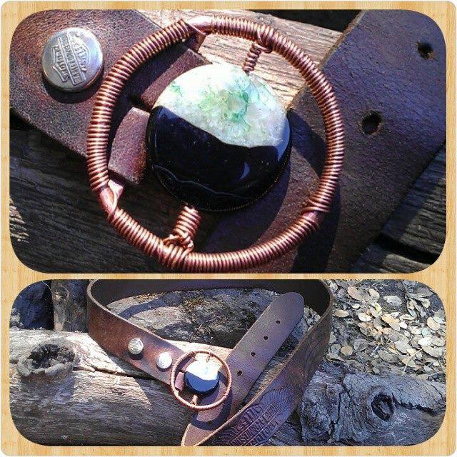 Copper Gemstone Belt Buckle-Stone Belt Buckle-Belt Buckle-Unisex Belt Buckle-Boho Belt Buckle-Copper Belt Buckle-Healing Jewelry-Belt Option by reginasribbons on Etsy